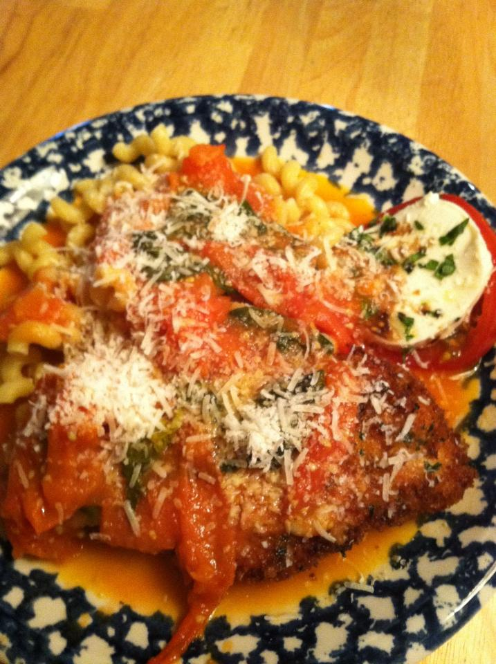 Panko Crusted Chicken in Cherry Tomato Sauce