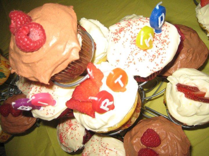 Raspberry Devil's Food Cake Cupcakes