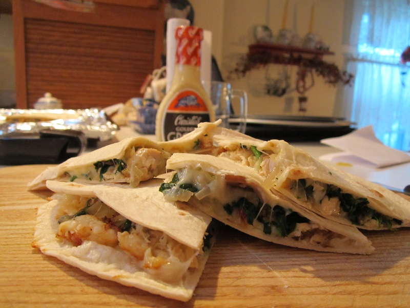 Portobello & Spinach Chicken Quesadilla