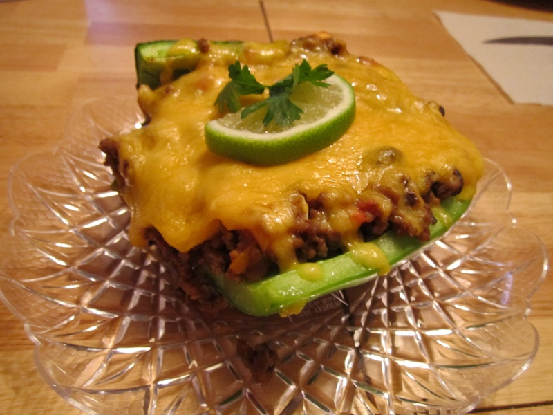 Beef & Black Bean Stuffed Pepper